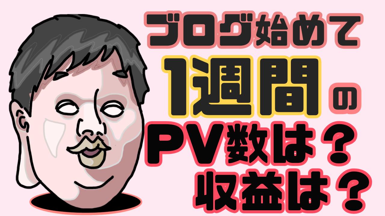 【ブログ運営】始めて1週間目のPVアクセス数と収益は?