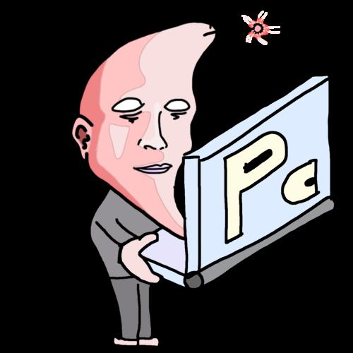 PCで同じニートがいないか探している人 イラスト