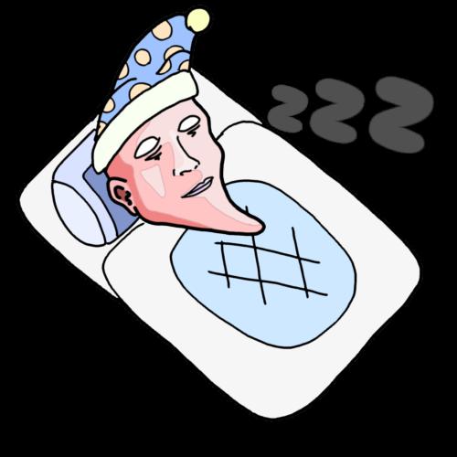 睡眠時間が長い人 イラスト